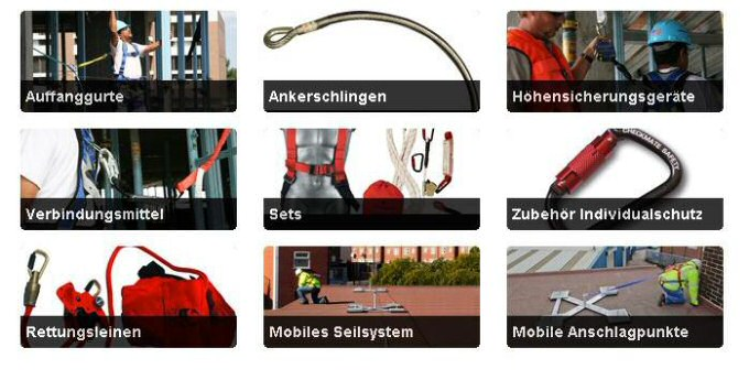 picture 1:Ein komplettes Sortiment an Absturzsicherungen (von: Simplified Safety GmbH)